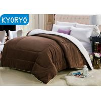 Buy cheap Brown Warm Winter Blankets Double-faced Fleece Blankets for Winter from wholesalers