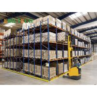 Buy cheap Q235B Steel   Push Back Racking ,  Blue Industrial Storage Racking Systems from wholesalers