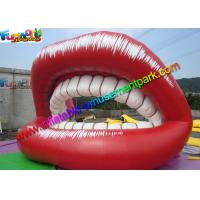 Buy cheap Red Popular Inflatable Advertising Signs Ladies Lips Teeth Promotion from wholesalers