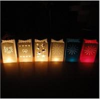 Buy cheap Flame Retardant Candle Bags Hollow Candles Paper Bags Printable Hollow LOGO Environmental Testing Certification from wholesalers