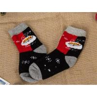 Buy cheap 2015 Korean popular christmas santa claus design cosy cotton winter dress socks for girls from wholesalers