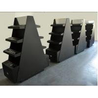 Buy cheap Commercial Cosmetic Display Shelves Makeup Rack Display Black Matte Surface Tree Style from wholesalers