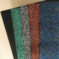 Buy cheap New heavy duty rubber floor gym mat for commercial with blue red green yellow fleck from wholesalers