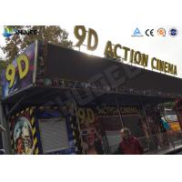 Buy cheap Metal Flat Screen 9D Movie Theater , Truck Mobile Cinema Private Customized product