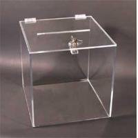 Buy cheap Fashion Custom Clear Acrylic Display Box With Lid , Silk Screen Printing from wholesalers