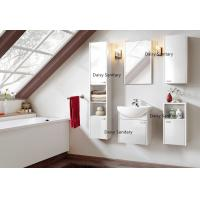 Buy cheap White And Red Wall Hung Basin Unit , 5 Doors Wall Mounted Bathroom Vanity Units from wholesalers