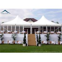 Buy cheap Stander Size High Peak Pagoda Wedding / Party Tent With Glass Wall And Curtains from wholesalers