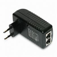 Buy cheap Wall Mounted 48V 0.5A POE Adapter EU / US / plug 24W AC Power Adapter RJ45 from wholesalers