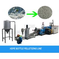 Buy cheap hdpe milk bottle flakes water cutting pelletizing machine granulator line from wholesalers