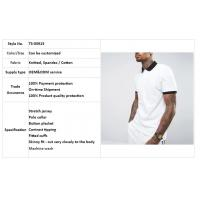 Buy cheap clothing factory men white slim fit tennis polo shirt cotton with contrast rib and cuff from wholesalers