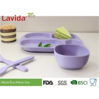 Buy cheap BPA Free Biodegradable Square Childrens Dinnerware Set With Customized Color and Pattern For Home School from wholesalers