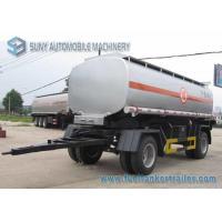 15000 L 2 Axles Oil Tank Trailer , Full stainless steel tanker trailers For Water / Chemical / LPG