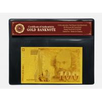 Buy cheap Engraved France Bills 100 Franc 24K Gold Banknote For Business Gift With COA from wholesalers