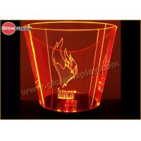 Buy cheap Clear Plastic Curved Liquor Beer Ice Bucket with Two Handles Besides from wholesalers