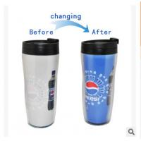 Buy cheap New customed print logo promotional double wall plastic colour change mugs cup tumbler product
