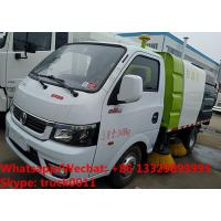 Buy cheap 2018s cheaper price gasoline China made smallest street sweeping vehicle for sale, road sweeper cleaning truck from wholesalers