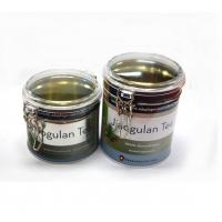 Buy cheap Bulk round tea tins with clear window from wholesalers