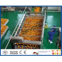 Buy cheap 10TPH Automatic Orange Juice Extract Orange Processing Line For Juice Making Factory from wholesalers