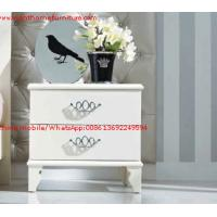 Buy cheap Ivory Classic Bed side table with wooden drawers for Nightstand design used by Hotel and Villa Furniture product
