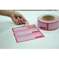 Buy cheap Digital Number Printed Packing Tape / Tamper Seal Stickers With Perforation 100mm from wholesalers