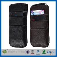 Buy cheap PU Leather Sleeve Pouch Apple Cell Phone Cases Wallet Card Slot With Pull Tab from wholesalers