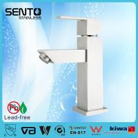 Buy cheap Stainless steel deck mount single hole basin faucet from wholesalers