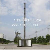 Buy cheap 15m telescoping antenna masts tower and mobile telecom antenna tower mast in shelter from wholesalers