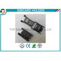 Buy cheap 2.54MM Pitch SIM Card Holder / SAM Card Holder with HINGED TYPE 6 Pin TOP-SIM01-1 product