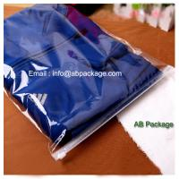 Buy cheap High quality Transparent thick PE Garment Package bag with Zip Lock forcloth bag packing from wholesalers