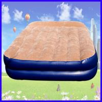 Buy cheap PVC Flocking Covered Inflatable Air Beds , Portable Air Mattress from wholesalers
