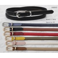Buy cheap Feather Edge Skinny PU Womens Fashion Belts Metal Loop / Pointed Belt Tip product