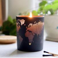 China Fashion Creative Design Soy Scented Jar Candle With Metal Lid Home Decoration on sale