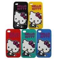 Quality Hello Ketty Pattern Apple iPhone / Cell Phone Silicone Cases For Girls for sale