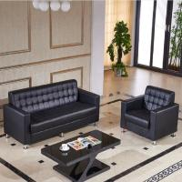 Buy cheap Executive Modern Black Leather Office Or Hotel Sofa Chair Elegant And Endurable from wholesalers