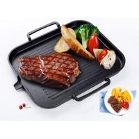 Buy cheap Thickened Cast Iron Barbecue Iron Plate Home Two Sides Uncoated Outdoor Barbecue Plate from wholesalers
