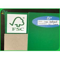 Buy cheap FSC Certificate 1mm To 3mm Recycled Green / Grey Cardboard For Packing from wholesalers