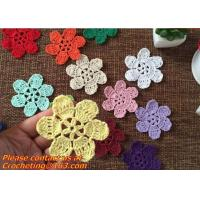 Buy cheap Lovely 3D Crochet Doily Clothing Accessaries Round Motif Doilies Flowers Appliques Boutiqu from wholesalers