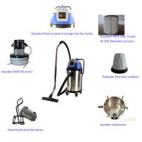Buy cheap Three Motors Industrial Wet Dry Vacuum Cleaners High Filtration Precision from wholesalers