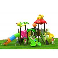 Buy cheap Smooth surface Kids Outdoor Plastic Slide with Stainless Steel foot plate mix color from wholesalers