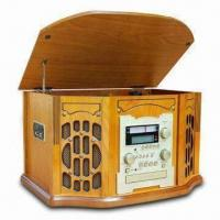 Buy cheap Nostalgic Wooden Music Center with CD Recording Function and 32W Power Consumption from wholesalers