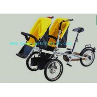 Buy cheap Yellow Plastic Baby Stroller Folding Bike With Twin Baby Seat from wholesalers