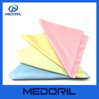 Buy cheap Wholesale microfiber sunglasses cleaning cloth with custom logo from wholesalers