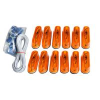 Buy cheap 12pcs Amber Running Board Light Kit oval , T10 DC 12V / 5W from wholesalers