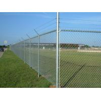 Buy cheap Plain Weave Style Black Galvanized Chain Link Fence Panels For Playground from wholesalers