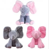 Buy cheap Musical Peek a Boo Elephant Play Hide And Seek Electric Baby Cuddle Plush Toys from wholesalers