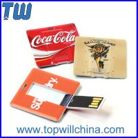 Buy cheap Plastic Square Card Usb Flash Drives with Both Side High Quality Digital Printing from wholesalers