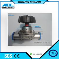 Buy cheap Stainless Steel Manual Type Tank Bottom Valve 3 Way DN40 OD 1.5 Stainless Steel 316 Sanitary Diaphragm Valve from wholesalers