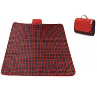 China Red Checkered Picnic Blanket Sand Proof For Outdoor Family Party on sale