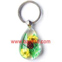 Buy cheap real bug with real flower keychains,insect key chains,bug keyring,insect keychains product