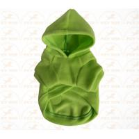 Buy cheap XXX Small Breed Dog Clothes Green color Sports garment for pet warmly and safety from wholesalers